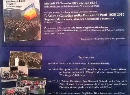 Patti – Presentazione libro Mons. Orlando